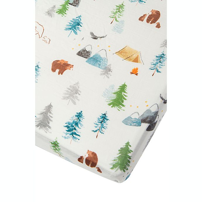 Alternate image 1 for Loulou Lollipop Adventure Begins Muslin Fitted Crib Sheet