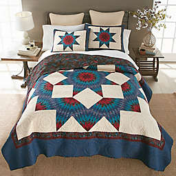 Donna Sharp Lark Broken Star Quilt Set in Blue