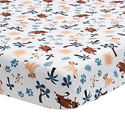 Lambs & Ivy® Lion King Adventure Fitted Crib Sheet in Blue/Brown