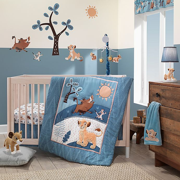 Alternate image 1 for Lambs & Ivy® Lion King Adventure 3-Piece Crib Bedding Set in Blue/Brown