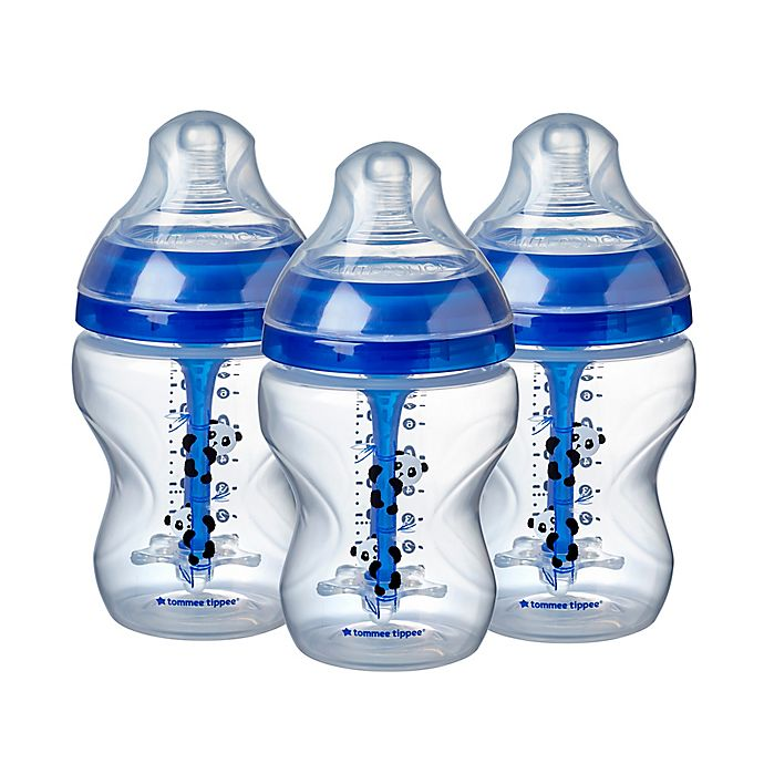 Alternate image 1 for Tommee Tippee Advanced Anti-Colic 3-Pack 9 fl. oz. Decorated Baby Bottles
