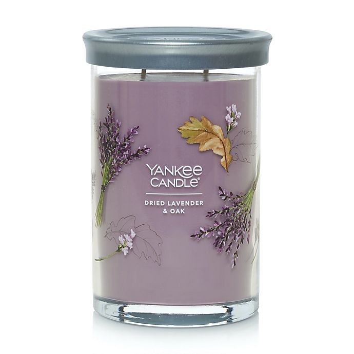 Alternate image 1 for Yankee Candle® Dried Lavender & Oak​ Signature Collection 20 oz. Large Tumbler Candle