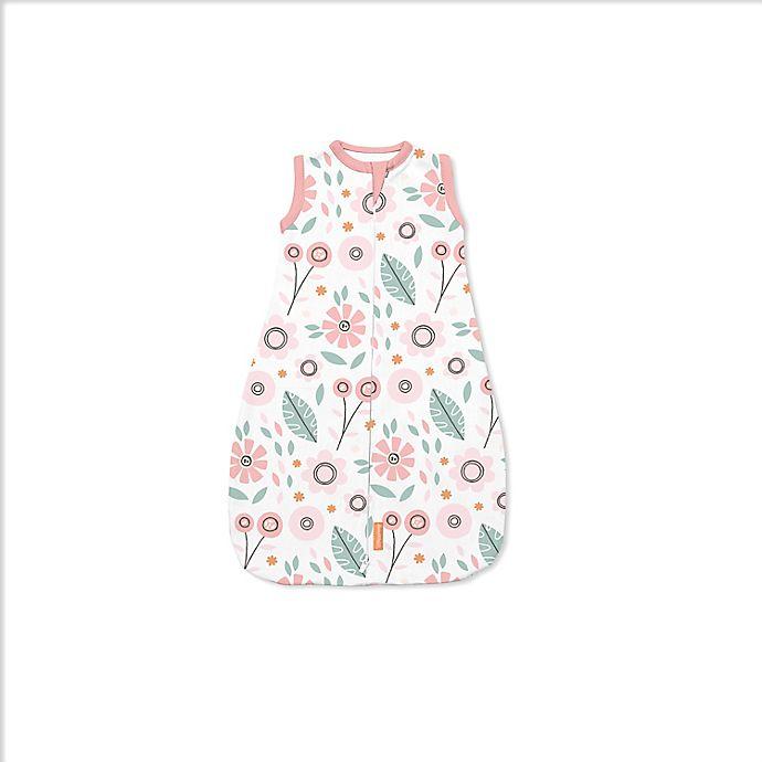 Alternate image 1 for SwaddleMe® Small/Medium Flower Fields Night Sack Sleeper in Pink/Green