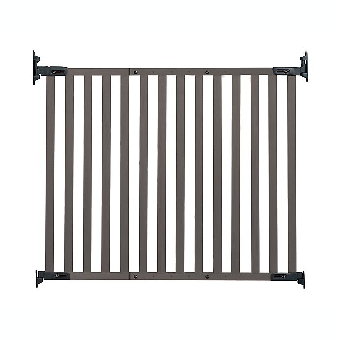 Alternate image 1 for KidCo® Safeway® Angle Mount Bamboo Safety Gate in Grey