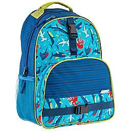 Stephen Joseph® Shark Print Backpack in Blue