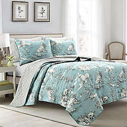 Lush Decor® French Country 3-Piece Reversible Toile Quilt Set