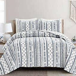 Lush Décor® Hygge Stripe 3-Piece Reversible Quilt Set