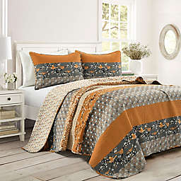 Lush Décor® Royal Empire 3-Piece Reversible Quilt Set in Yellow/Grey