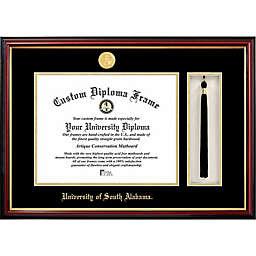 University of South Alabama School Seal Graduation Tassel and Diploma Frame
