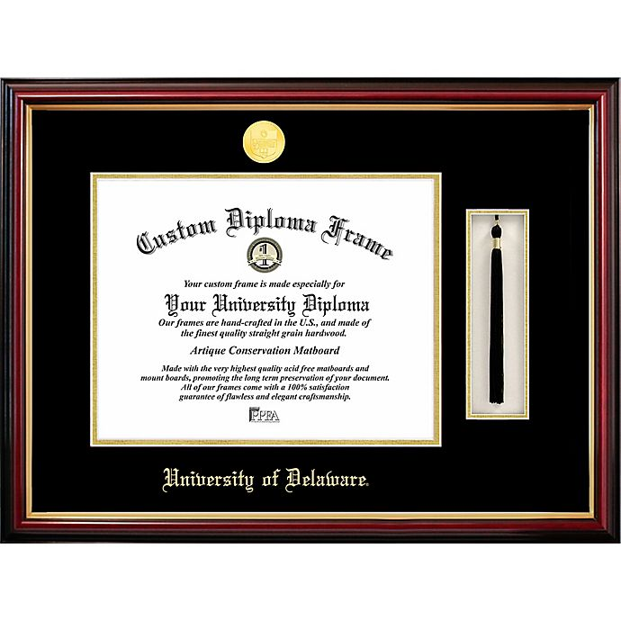 Alternate image 1 for University of Delaware School Seal Graduation Tassel and Diploma Frame