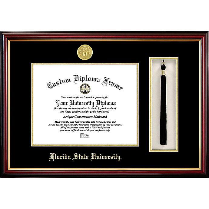 Alternate image 1 for Florida State University School Seal Graduation Tassel and Diploma Frame