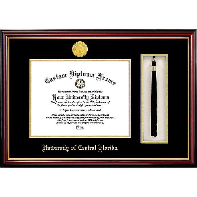 Alternate image 1 for University of Central Florida School Seal Graduation Tassel and Diploma Frame