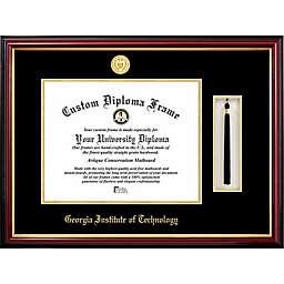Georgia Institute of Technology School Seal Graduation Tassel and Diploma Frame