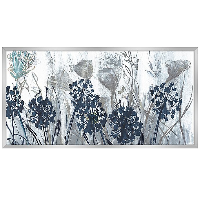 Alternate image 1 for Ridge Road Décor Indigo Field 59-Inch x 30-Inch Framed Landscape Canvas Painting