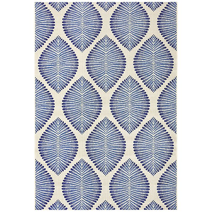 Alternate image 1 for W Home Leaves Indoor/Outdoor Area Rug in Navy/Blue