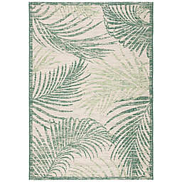 "W Home Palm 5'3"" x 7'7"" Indoor/Outdoor Area Rug in Green"