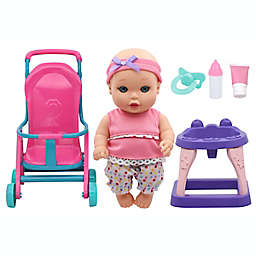 Baby Magic® Stroll & Scoot Baby Doll 9-Piece Playset