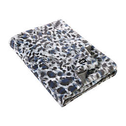 UGG® Pattern Polar Faux Fur Throw in Grey