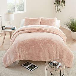 UGG® Elsie Faux Fur 2-Piece Twin/Twin XL Duvet Cover Set in Quartz
