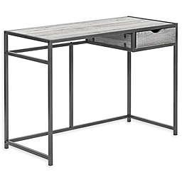Monarch Specialties 1-Drawer Computer Desk in Grey/Dark Grey