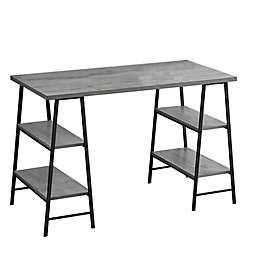 Monarch Specialties 48-Inch Industrial-Style Computer Desk in Grey/Black