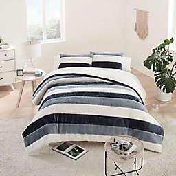 UGG® Grayson Striped 3-Piece Full/Queen Comforter Set in Ocean