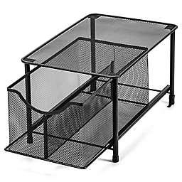 Squared Away™ Large Metal Mesh Cabinet Drawer in Black