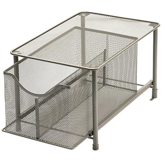 Alternate image 1 for Squared Away™ Large Metal Mesh Cabinet Drawer