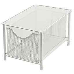 Squared Away™ Large Metal Mesh Cabinet Drawer in White
