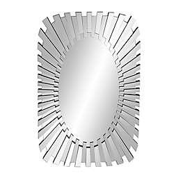 Ridge Road Décor Glam 47.5.5-Inch x 31.4-Inch Rectangular Wood Wall Mirror in Clear