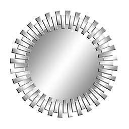 CosmoLiving by Cosmopolitan Wood Wall Mirror in Silver