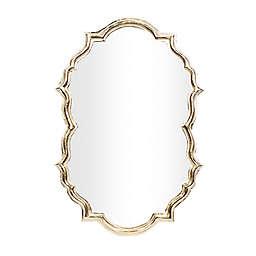 Ridge Road Décor Contemporary 24.7-Inch x 36-Inch Aluminum Wall Mirror in Gold