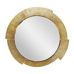 Ridge Road Décor Contemporary Aluminum Wall Mirror in Gold