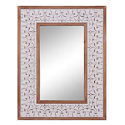 Ridge Road Decor Farmhouse 27.5-Inch x 35.5-Inch Rectangular Wall Mirror