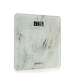 DUKAP® Life Digital Bathroom Weight Scale in White Marble