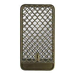 A&B Home Mesh Caged Wall Sconce in Antique Brass