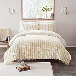 UGG® Devon Textured 3-Piece Reversible Full/Queen Comforter Set in Sun Stripe