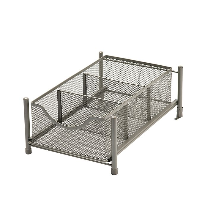 Alternate image 1 for Squared Away™ Small Metal Mesh Cabinet Drawer