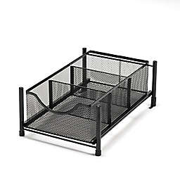 Squared Away™ Small Metal Mesh Cabinet Drawer in Black