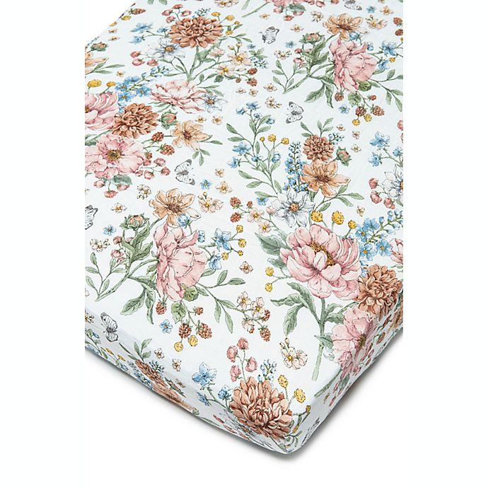 Alternate image 1 for Loulou Lollipop® Secret Garden Muslin Fitted Crib Sheet
