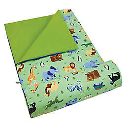 Olive Kids Wild Animals 3-Piece Sleeping Bag Set in Green