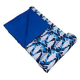 Wildkin 2-Piece Sharks Sleeping Bag Set in Blue