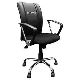 NFL New England Patriots Curve Task Chair with Secondary Logo