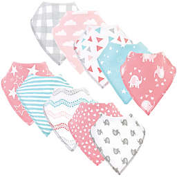 Luvable Friends® 10-Pack Girl Elephant Bandana Bibs