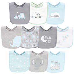 Luvable Friends® 10-Pack Elephant Cotton Drooler Bibs