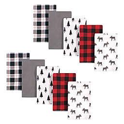 Hudson Baby® 10-Pack Moose Flannel Burp Cloths