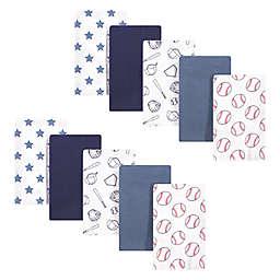 Hudson Baby® 10-Pack Baseball Flannel Burp Cloths