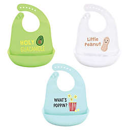 Hudson Baby® 3-Pack Guacamole Silicone Bibs