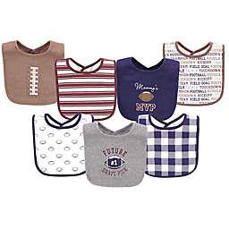 Hudson Baby® 7-Pack Football Cotton Bibs