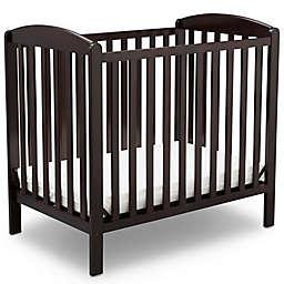 Delta Children Sprout Mini Convertible Crib with Mattress in Dark Chocolate
